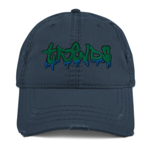 Graffiti Drip Distressed Dad Hat