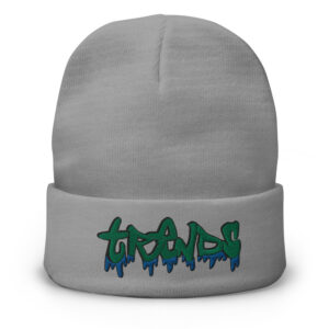 Graffiti Drip Embroidered Beanie